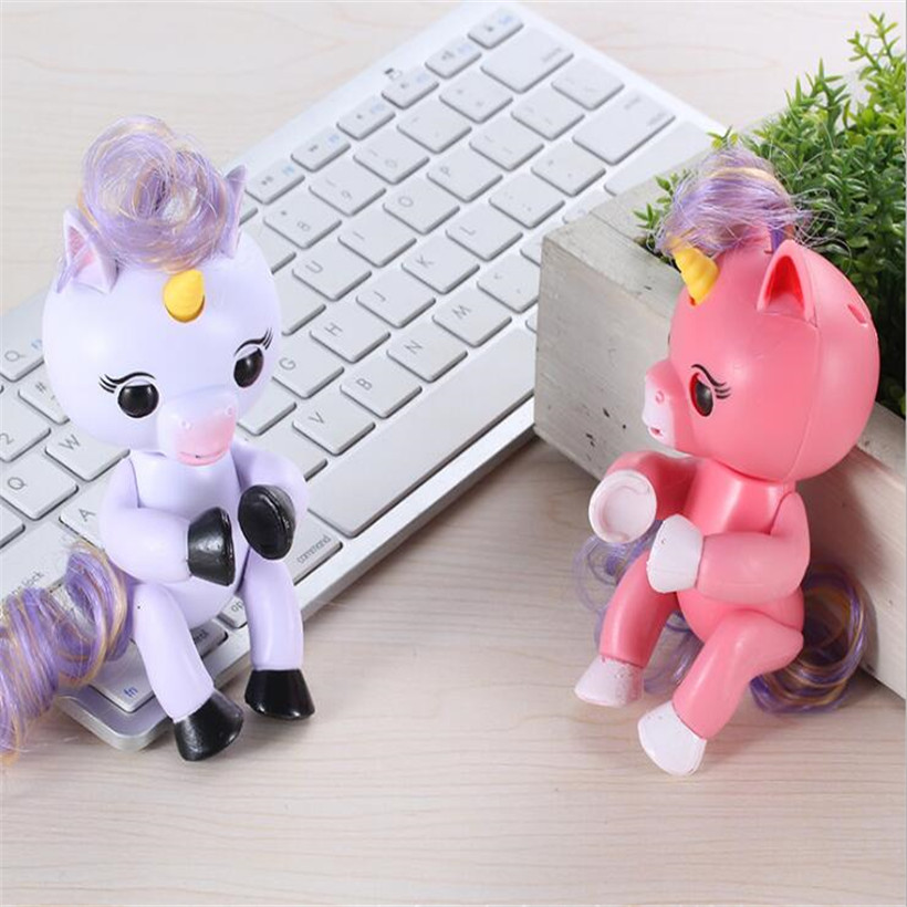 High Quality Funny Cute Fingerlings Interactive Baby Unicorn Toy Smart Fingers Llings Smart Induction Toy Kids