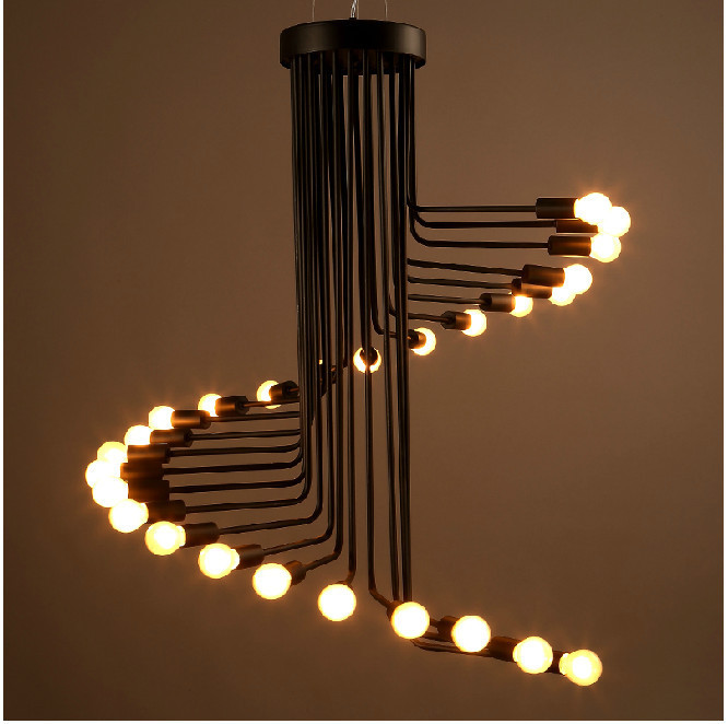 Loft Retro Creative Spiral E14 Edison Light Bulb Decorative Pendant Lamp  Lighting Fixture In Pendant Lights From Lights U0026 Lighting On Aliexpress.com  ...