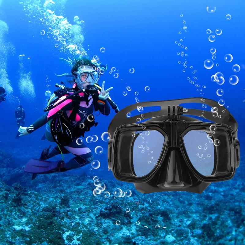 High Quality Professional Anti-fog Underwater Diving Mask Scuba Snorkel Swimming Goggles for GoPro New Swim Glasses 3 Colors hwcamera mount diving mask scuba snorkel swimming goggles for gopro hero 2 3 new arrival