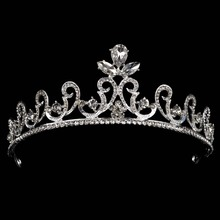 New Fashion Hair Jewelry Wedding Bridal Crown Accessories For Bride Rhinestone Sparking Women Bridal Tiara