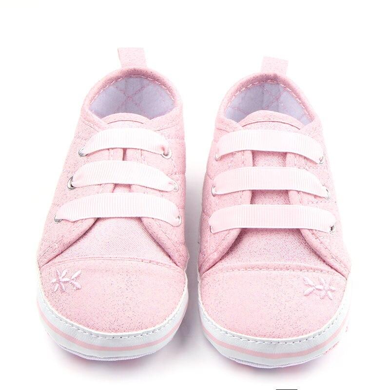 Zapatos de Bebé de Algodón cómodo Sólido Diseño de la Tela Escocesa Con Cordones
