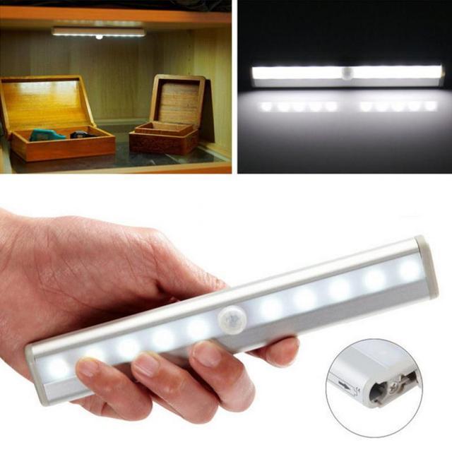 10LED IR Infrarood Bewegingsmelder Kast Lamp Draadloze Sensor ...
