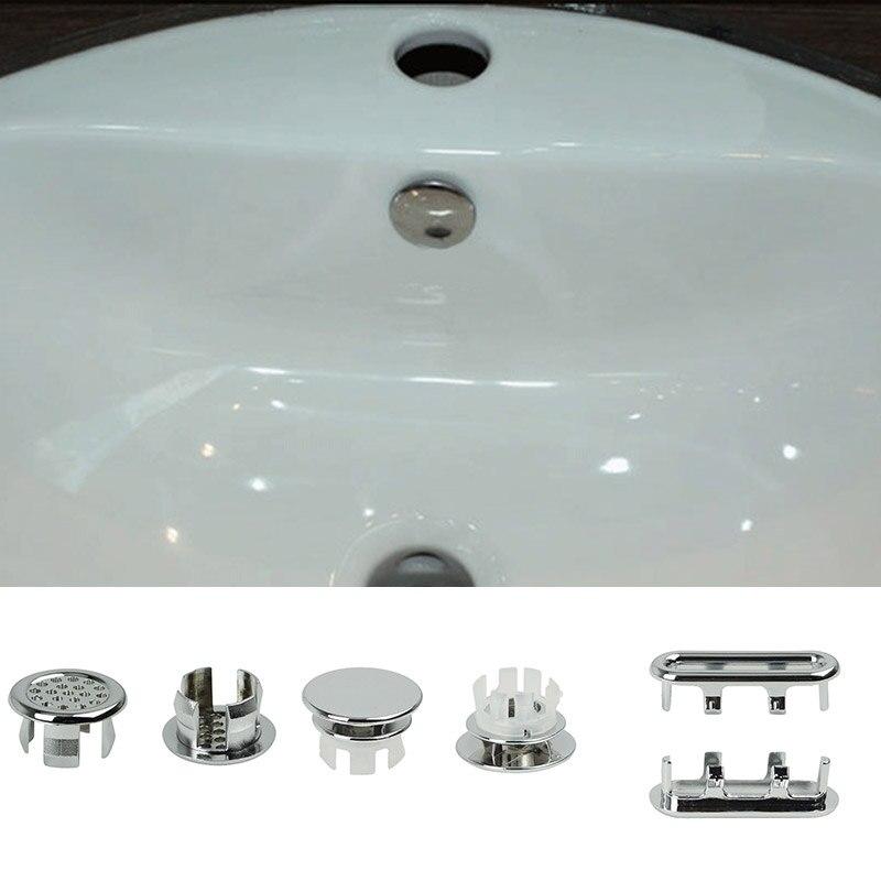 Home Plumbing Materials 3pcs Round Ring Overflow Cover Plug Sink Filter Bathroom Basin Sink Drain Uv Home Furniture Diy Omnitel Com Na