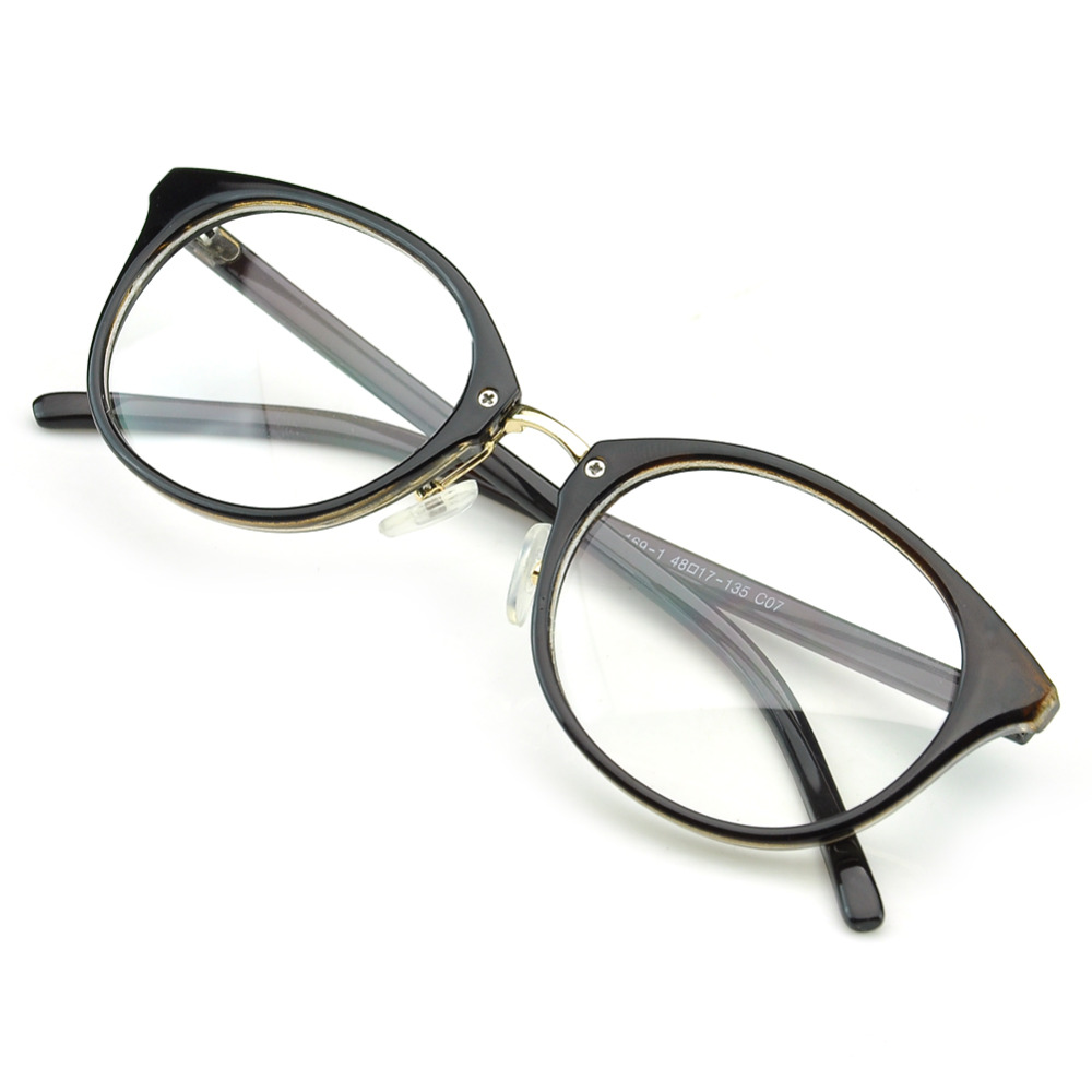 007df5bc5be PenSee Retro Oval Eyeglasses Bold Frame Clear Lens Round Glasses-in Eyewear  Frames from Apparel Accessories on Aliexpress.com