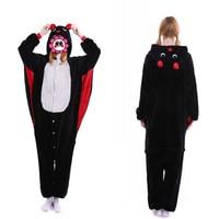 Abbille Anime Bat Pajamas Sleepwear Cosplay Adult Animal Onesie Pyjamas Party Sleepsuit High Quality Women Black