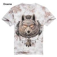 Onsemeメンズ綿tシャツパンクtシャツタイダイ部族イーグルウルフtシャツヴィンテージヒップホップトップスカジュアルtシャツCTE-173