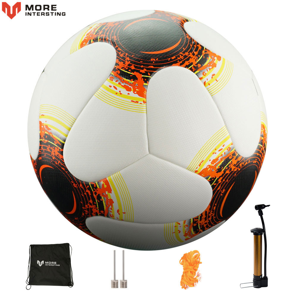 2018 Office Soccer Ball Size 4 Size 5 Premier Seamless Football With Pump Gif Teenage Competition Training Balls Futbol Voetbal