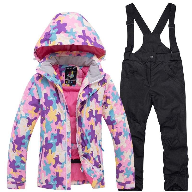 Crianças roupas de inverno crianças roupas de natal da menina da criança roupas de inverno meninas roupas de esqui desgaste dos esportes - 2