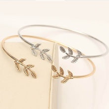Fashion Bohemia Leaf Knot Hand Cuff Link Chain Charm Bracelet Bangle for Women Gold Bracelets Femme Jewelry Dropshipping -Ff(China)