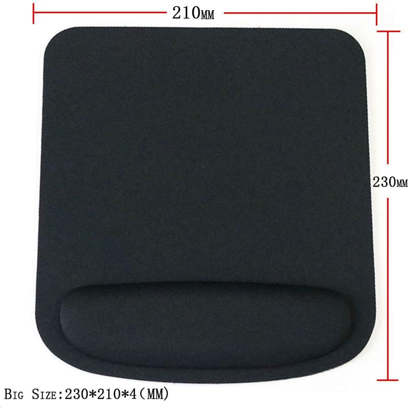 Black Professional Thicken Square Comfy Wrist Mouse Pad Para Óptico - Periféricos de la computadora - foto 6