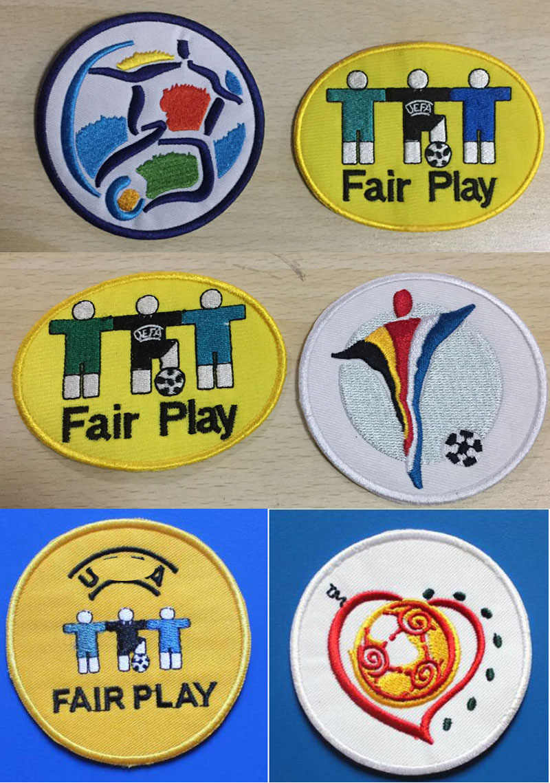 Geborduurde Eur 1996 2000 2004 Fair Play Voetbal Patch Set Warmteoverdracht Voetbal Patch Badge