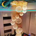 Crystal chandelier  LED double staircase long chandeliers crystal lamp  villa hall crystal lamp