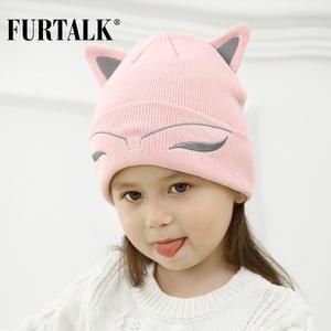 2fede2da7ac FURTALK Winter Baby Wool Knit Beanie Boys Kids Hats