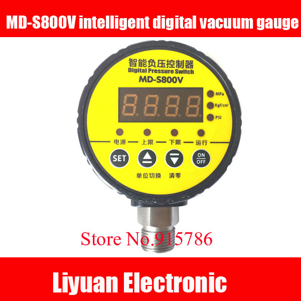 MD S800V intelligent digital vacuum gauge / 0.1~0MPa digital display electrical contacts switch /M20*1.5 vacuum controller-in Sensors from Electronic Components & Supplies    1