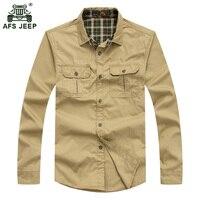 Free Shipping NIAN JEEP Spring Autumn Men S Long Sleeve Shirt Military Retro Shirt For Men
