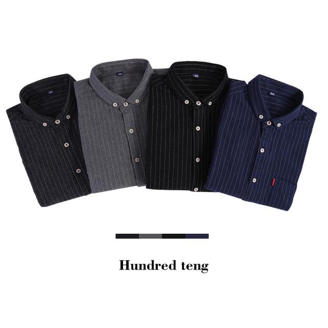 70% algodón 2017 otoño masculino de manga larga camisa casual hombre vestido slim fit camisas chemise homme camisa masculina