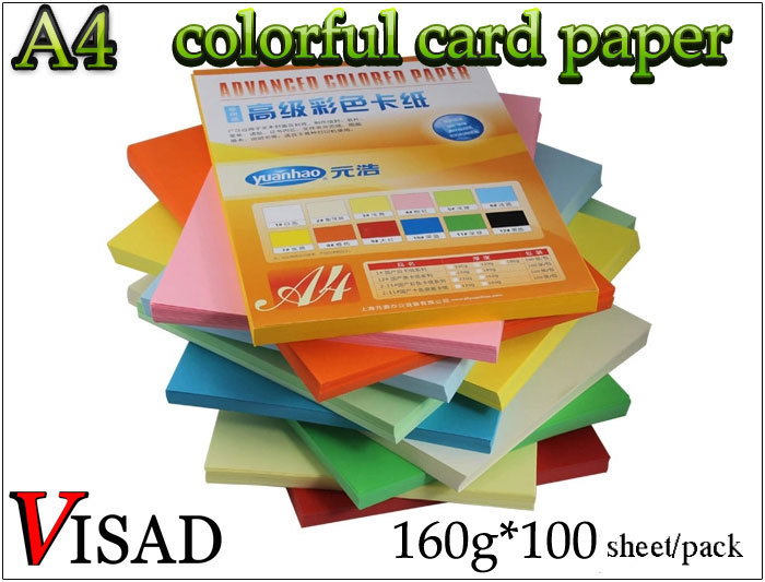 VISAD color A4 copy paper ,card paper & handmade paper for calligraphy work and painting kitpac101188pac103071 value kit pacon tru ray construction paper pac103071 and pacon array card stock pac101188