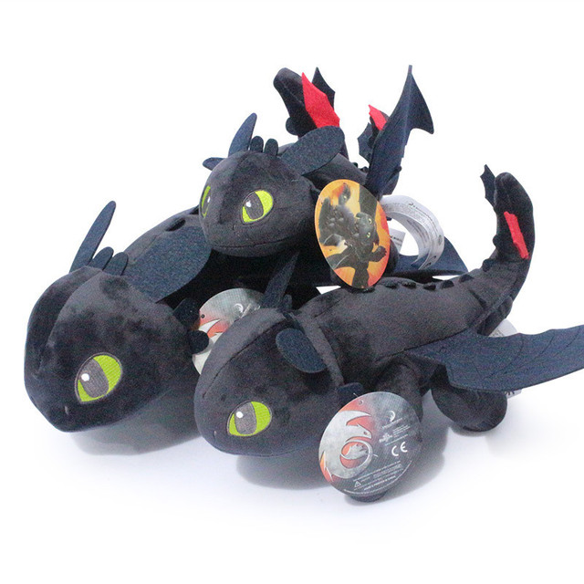 "How To Train Your Dragon 3 Night Fury Plush Toy 9"" Toothless Doll  Toy Stuffed Soft Animal Cartoon Gift for Children Doll 23cm 1"