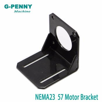 ¡Envío libre! CNC NEMA23 Steppr Motor ACCESORIOS soporte de estante montaje L con soporte de montaje 57 Stepping Motor paso a paso