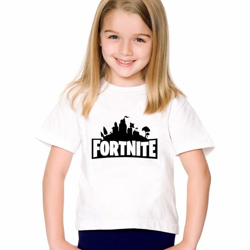 LYTLM Fortnite Battle Royale Kids Summer T Shirt Kids Girls Cartoon Fashion Kid Clothes Baby vetement enfant fille Kids Tshirt