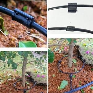 Шунтирующая трубка для орошения, 20 м, капельный шланг, излучатели, фруктовые елки, бонсай, растения, Водосберегающие линии, Отводная труба дл...