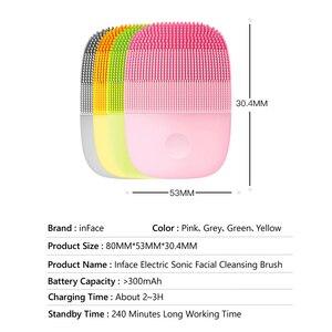 Image 5 - InFace cepillo eléctrico de silicona para limpieza Facial, cepillo de masaje de limpieza Facial profunda, Sónico, IPX7, resistente al agua