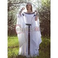 Medieval europa central dress com cinto mulheres adultas cosplay custom made d1029