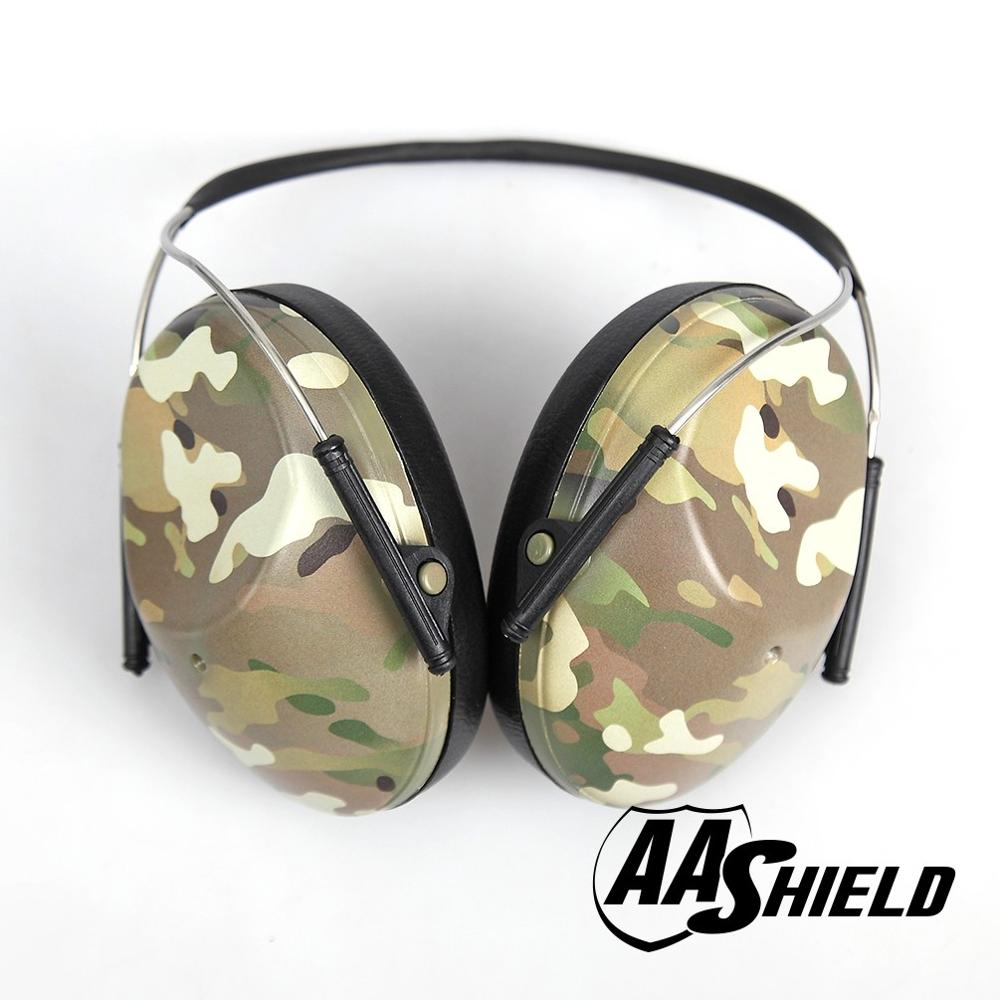 AA Shield Soundproofing Round Neck Ear Muff Shooting Hearing Protector Noise Reduction Tools 25.8DB Camo aa shield soundproofing mini ear muff shooting hearing protector noise reduction tools 25 8db color od reduce db free shipping