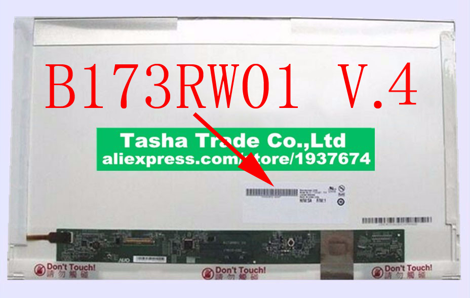 b173rw01 v . 4  HD+ 1600*900 LCD Laptop LCD Screen B173RW01 V.4 V4 Matrix Replacement  Original original a1706 a1708 lcd back cover for macbook pro13 2016 a1706 a1708 laptop replacement