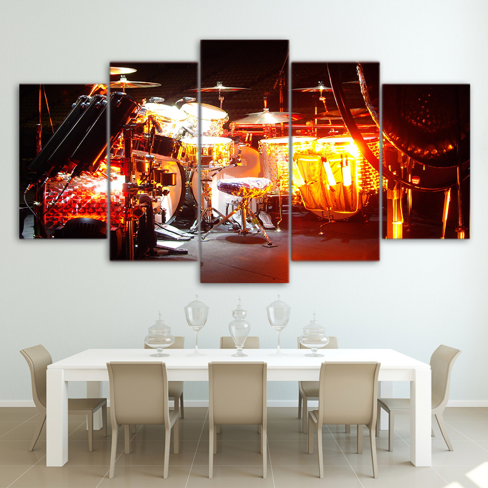 Framed decor wall art pictures living room modern canvas 5 - Living room wall decor pictures ...
