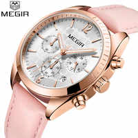 Relogio feminino MEGIR ผู้หญิงนาฬิกาแบรนด์หรู Chronograph วันที่นาฬิกาธุรกิจคลาสสิกควอตซ์สุภาพสตรีนาฬิกาข้อมือ 2115