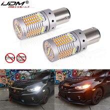 IJDM pas de Canbus Hyper Flash blanc/ambre haute puissance 1157 Switchback P21/5W BAY15d ampoule LED pour la circulation diurne/clignotant