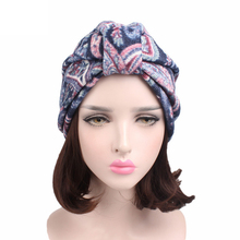 EMS OR DHL 120PCS 2017 New Inlay Plush Knitted Headband Lattice Knot India Headdress Chemotherapy Cap TJM-122 Hair Accessories
