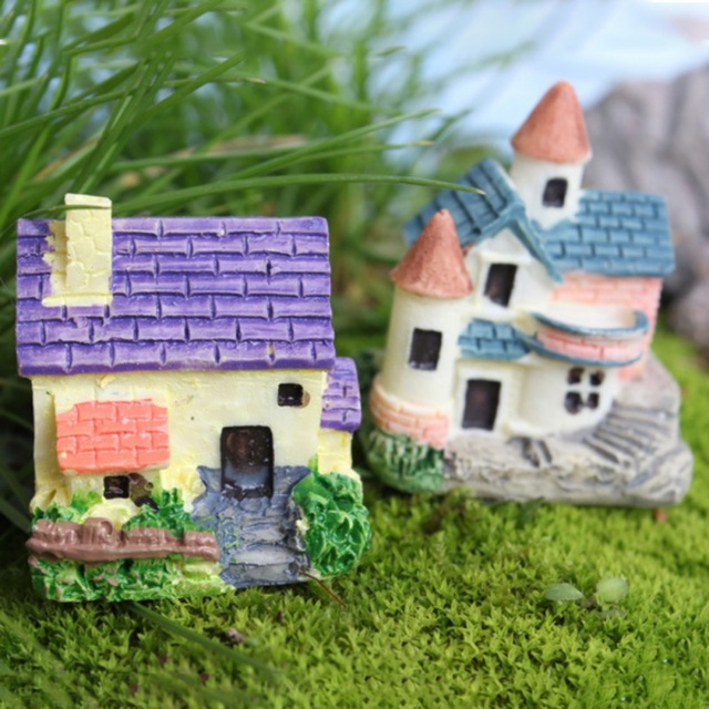 New Design DIY House Cottages Mini Craft Miniature Fairy Garden Home  Decoration Houses Micro Landscaping Decor