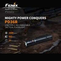 Usb type C зарядка Fenix PD36R 1600 люмен ультра компактный аккумуляторный тактический фонарик с литий ионным аккумулятором 5000 мАч
