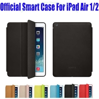 10pcs Lot EMS Free New 1 1 Official Case Fashion Smart Case For Apple IPad Air