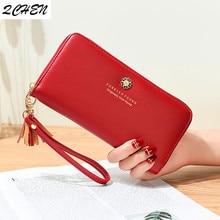 купить Women Long wallets Clutch New zipper tassel wallet Large Capacity Wallets Female Purse Lady Purses Phone Pocket Card Holder 514 по цене 491.74 рублей