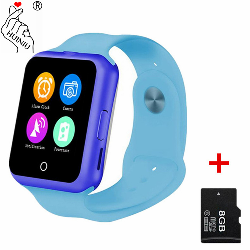 HUINIU D3 Bluetooth Smart Watch Fitness Tracker Pedometer SIM For Kids Boy Girl Gift Children Smartwatch Apple Android Phone