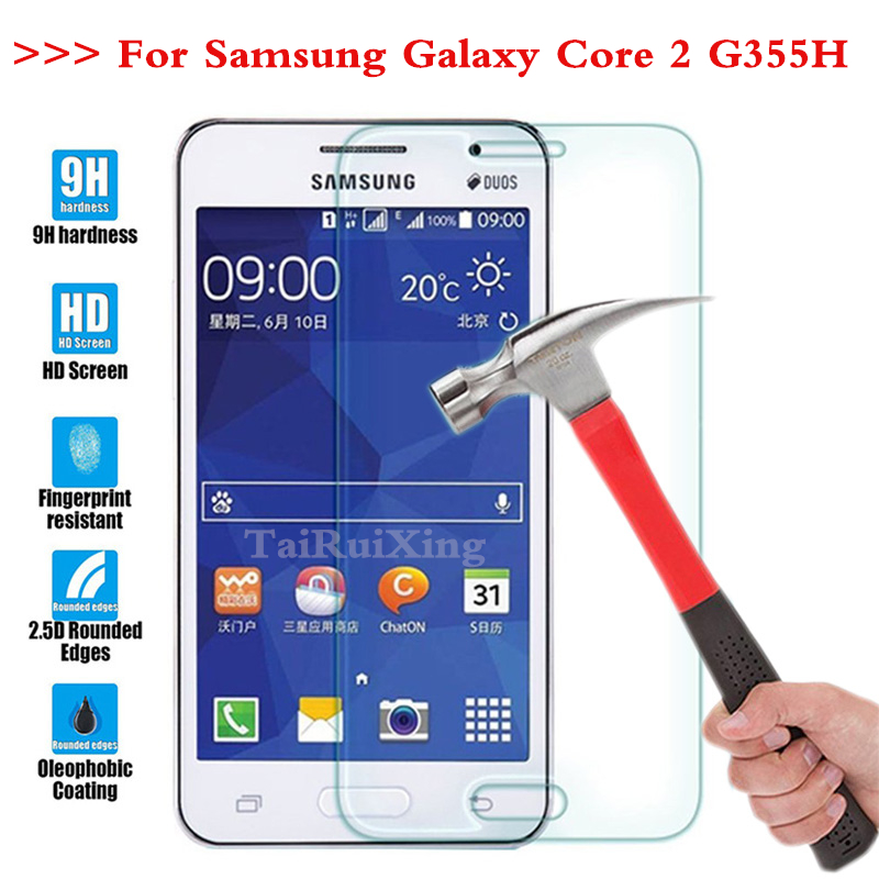 High-quality 0.26 mm Tempered Glass For Samsung Galaxy core 2 core2 G355H G355h Screen Protector Case