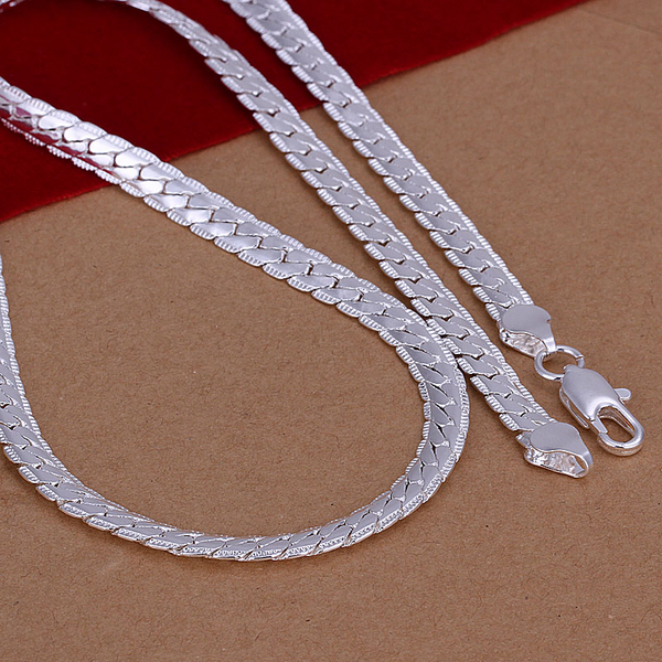 925 sterling silver jewelry necklaces for women statement choker 925 sterling silver jewelry necklaces for women statement choker fashion 5mm flat chain mens long necklace chain colar n130 in chain necklaces from jewelry mozeypictures Images
