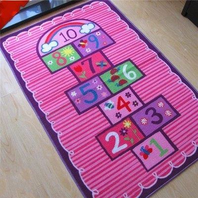 Unique Design Pink Rug Number Theme Kids Rug Children Carpet Kids Rugs Cartoon Carpet Baby Mat Baby Crawling Pad Game Mat