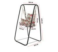 Fashion wicker chair , swing chair , stable hammock, indoor single convenient swing hammock with shelf
