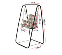 Fashion wicker chair , swing chair , stable hammock, indoor single convenient swing hammock with shelf