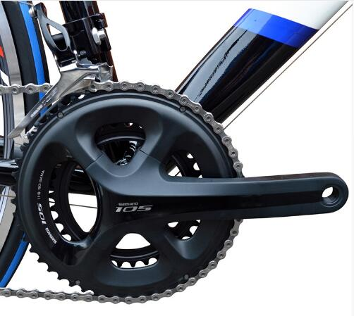 Racing Charining Shimano 105 FC-5800L 2 x 11 Speed 34T//50T Road Bike