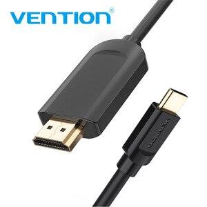 Image 1 - Кабель Vention USB C HDMI 4K Type C к HDMI, адаптер HDMI для Huawei P20 Mate 10 Pro MacBook Pro Air ipad Pro Thunderbolt 3 1 м 2 м