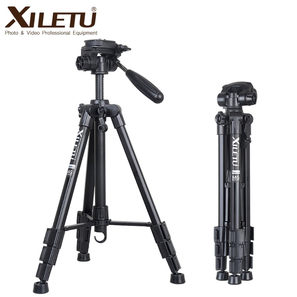 XILETU XVT 234 Professional Portable Aluminum Panoramic Camera Video Tripod For Digital Camera Camcorder Canon Nikon