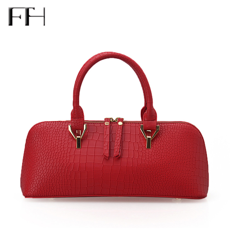 Fashion design new design Women Top grade leatherl baguette shoulder Handbags female sexy Totes bag lady