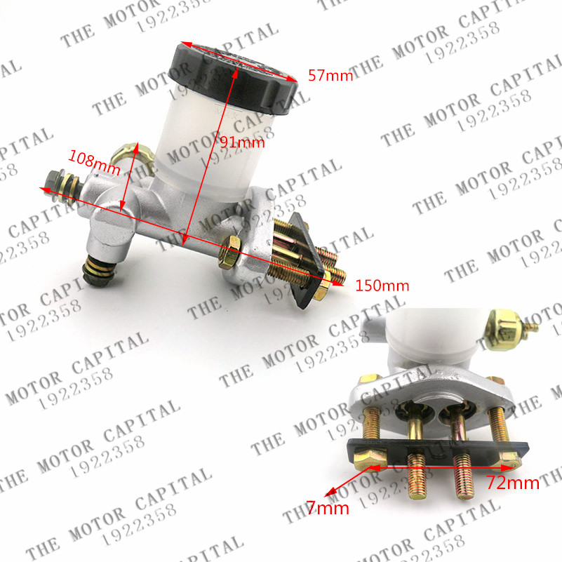 Free Shipping Brake Master Cylinder Hydraulic Pump FOR Go Kart Buggy 90 110 125 150 200 250 300CC