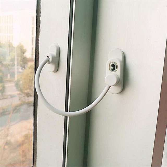 Lockable Window And Door Security Restrictor Cable Lock Door Safety Restrictor Child Room Anti-theft & Lockable Window And Door Security Restrictor Cable Lock Door Safety ...