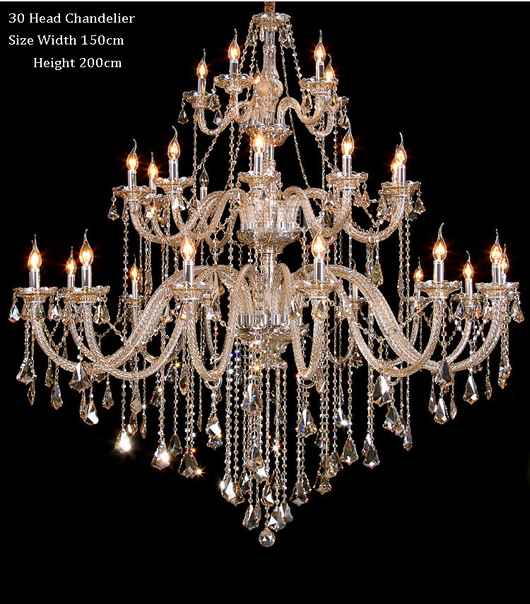 Phube Lighting Large Candle Chandeliers Light Cognac Crystal Chandeliers Lustre Villa Chandeliers Light Lighting +Free shipping!